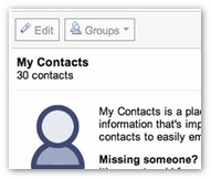 Google contacts: sort out duplicate contacts with one click