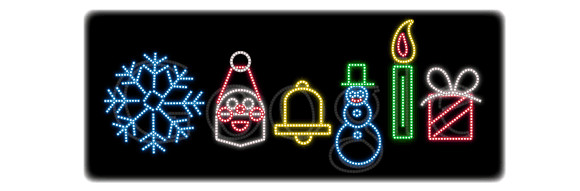 Google gets in the festive spirit with a Christmas doodle