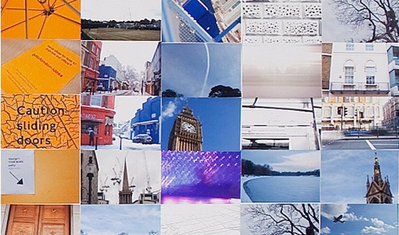 Google giant logo constructed out of 884 London photos