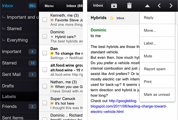Google serves up Gmail app for iPhone, iPad and iPod touch
