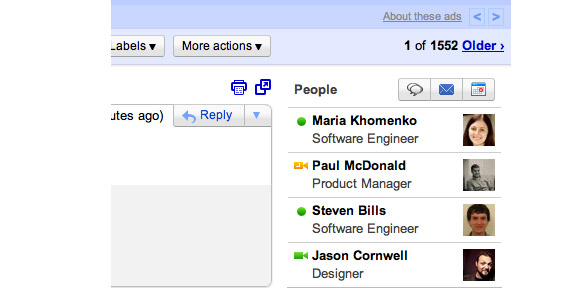 GMail People Widget makes us love email all over again