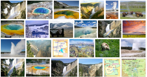 Google Images Search gets a funky new look