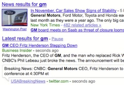 Google adds live Twitter and blog updates to searches