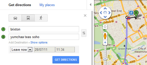 Gor blimey! Google adds London public transport directions