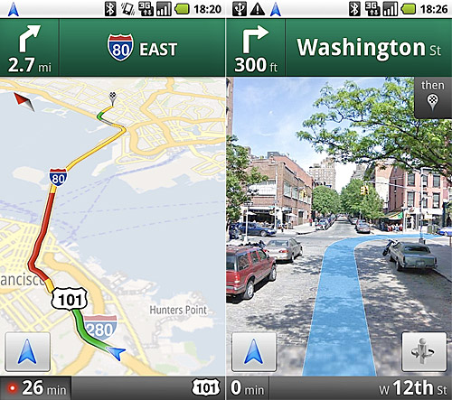 Google Maps Navigation for Android offers full satnav. Tom ... on google maps etobicoke, google maps earth, google maps sea of galilee, google maps bike trails, google maps pacific northwest, google air view, google satellite united states, google maps allentown pennsylvania, google satellite home search, google maps watsonville, google my home aerial view, google maps road map, google maps navigation, google maps hybrid mode, google maps via satellite, google maps glitches, google maps southeast united states, google street view, google earth home,