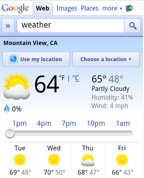 Google add more 'fun' to their mobile weather app