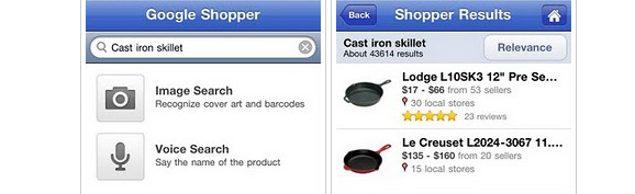 Google Shopper app comes to the iPhone for your skillet buying pleasure