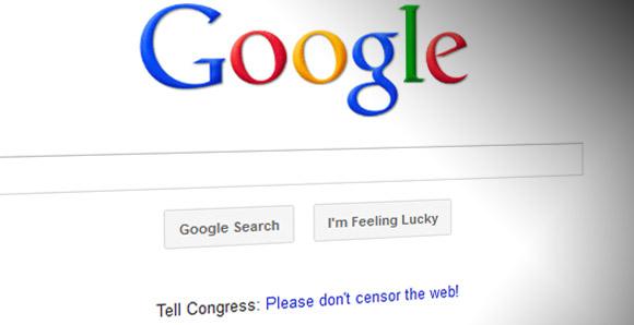 Google on SOPA: 'Don't Censor The Web'