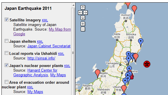 Google posts Japanese Earthquake and Tsunami information and resource page