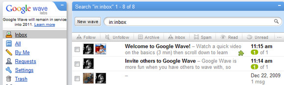 Google says goodbye to Google Wave, all turned off by April 2012