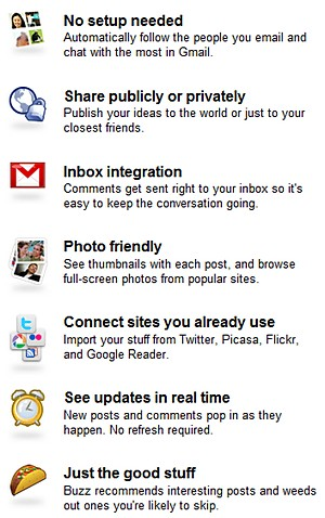 Google Buzz takes on Facebook and MySpace