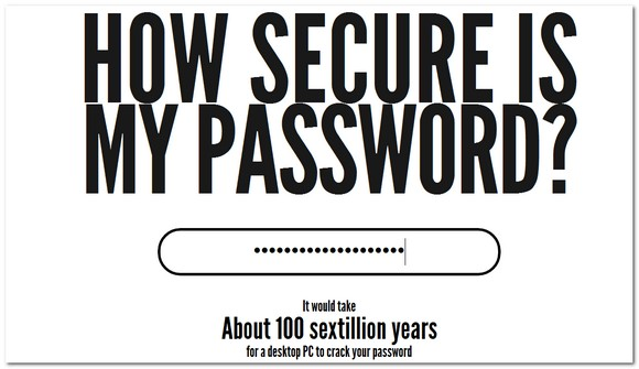 How secure is your password? Put it to the test here