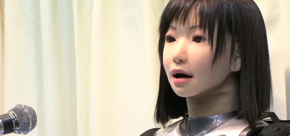 Japanese HRP-4C Humanoid Robot sings and breathes!