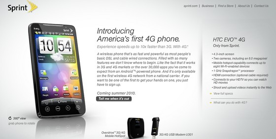 Sprint announces HTC EVO 4G - the world's first fully-integrated 4G consumer handset