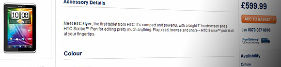 HTC Flyer priced for the UK - and its too damn pricey