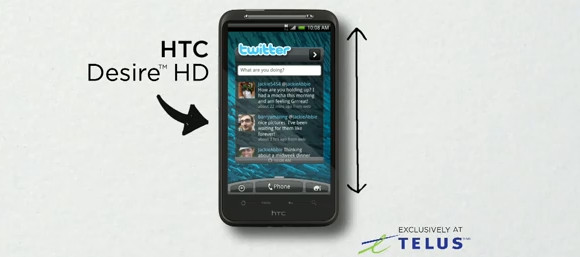 HTC Desire HD videos big up the 'ridiculously big' screen
