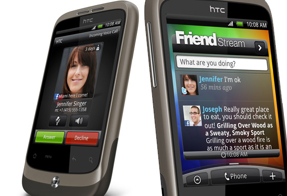 HTC Wildfire handset: a rather delightful budget Android number