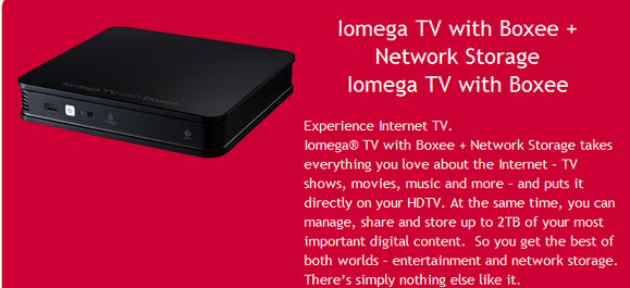 Iomega TV with Boxee starts shipping in the UK, offering onboard network storage