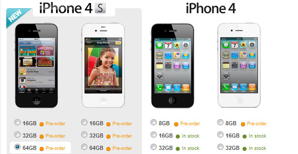 Vodafone has posted up their contract rates for the new iPhone 4S ...
