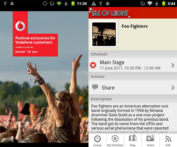 Isle of Wight festival app offers everything except guaranteed sunshine