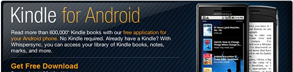 Kindle app now available on Android | wirefresh