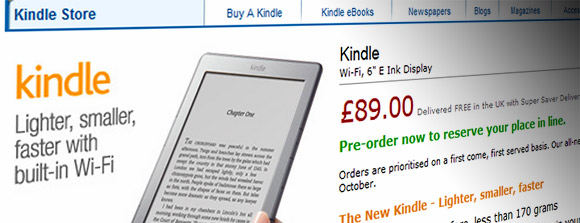 The new Kindle appears on Amazon UK, released 12th October for £89