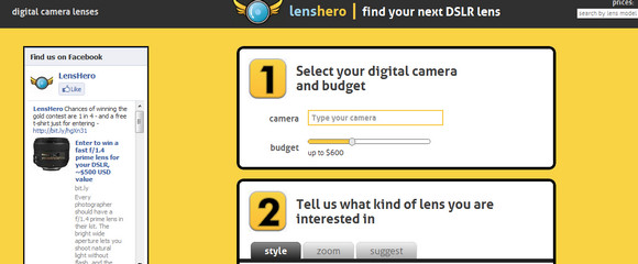 Find the right lens for your camera with Lenshero