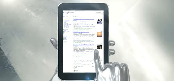 LG Optimus Pad gets handled by a Terminator