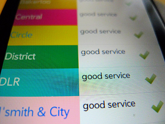 London Tube Service Free for HP/Palm webOS - review