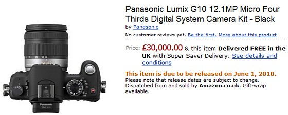 Panasonic announces US pricing for DMC-G2 & DMC-G10- yours for 30k says Amazon!