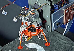 Lunar Lander rebuilt on Southwold Pier