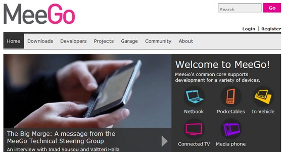 MeeGo created from Intel Mobil and Nokia Maemo OSs