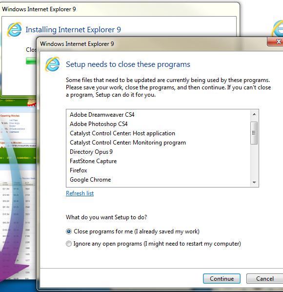 Microsoft Internet Explorer 9 annoys before it's even begun