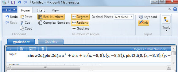 Microsoft Mathematics 4.0 graphic calculator is yours for free
