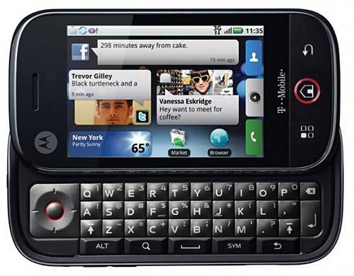 Motorola Dext/Cliq MotoBlur interface