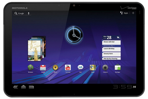 Motorola Xoom 10.1 inch Android tablet packs dual cameras, 10hrs battery life