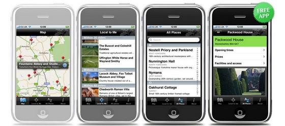 National Trust launch Apple iPhone app
