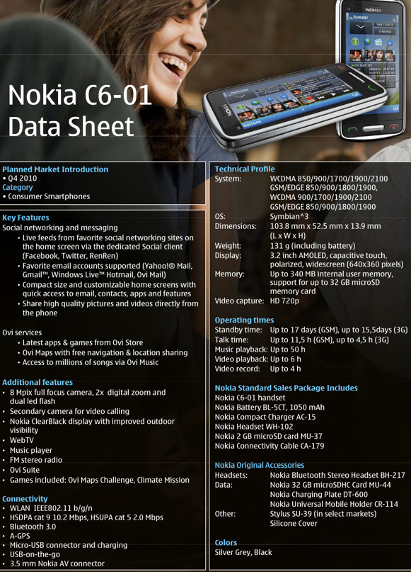 Nokia fights back with C7 and C6 handsets - full specs