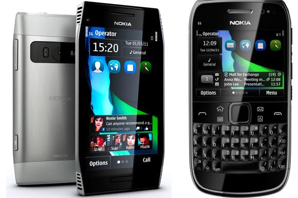Nokia announces E6, X7 smartphones running new Symbian Anna OS