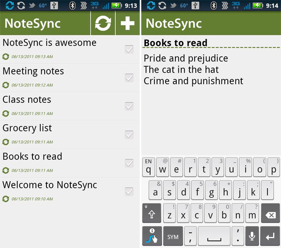 NoteSync for Android offers offline Google Docs access