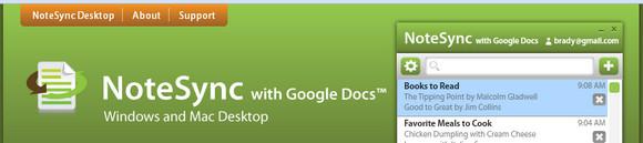 Notesync Google Docs desktop sync for Windows and Mac - review