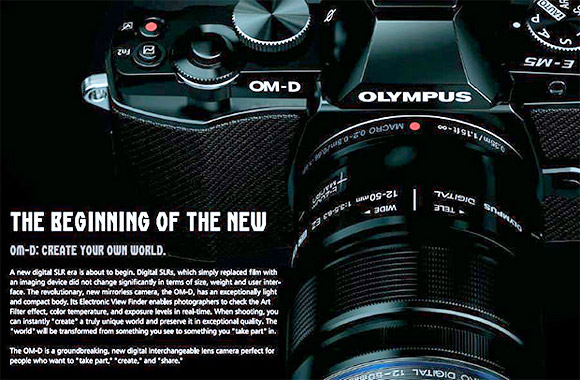 Olympus OM-D SLR photos leak out - and it looks fabulous
