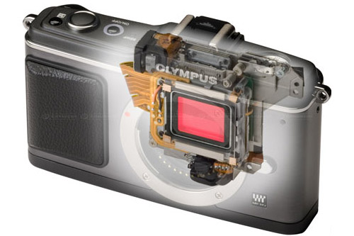 Olympus E-P2 Micro Four Thirds retro camera looks a good 'un
