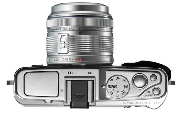 Olympus PEN E-P3 Micro Four Thirds touchscreen camera looks a beaut