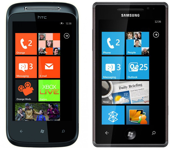 Orange HTC 7 Mozart and Samsung Omnia 7 handsets go on sale
