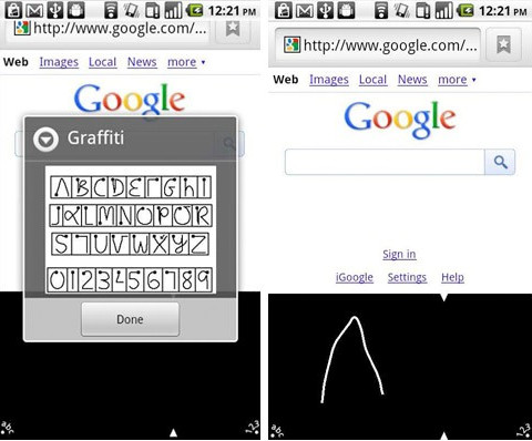 Old school Palm Graffiti text input now available for Android