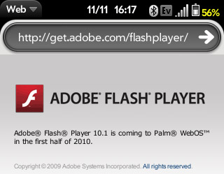 Palm: webOS 1.3 this month, Flash 'first half of 2010'