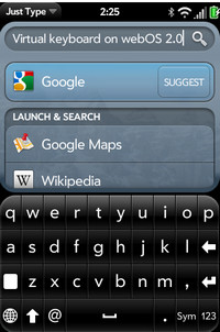 Onscreen keyboard finally coming to the webOS