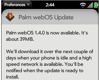 Palm webOS 1.4 hits the UK, Flash and video support added