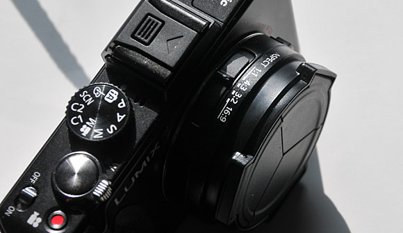 Lumix LX5 and the fantastic JJC Lens Cap - get one now!